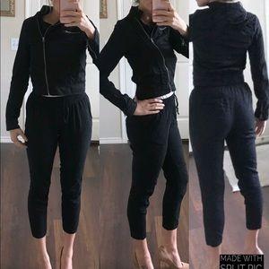 Miss London black cropped jacket